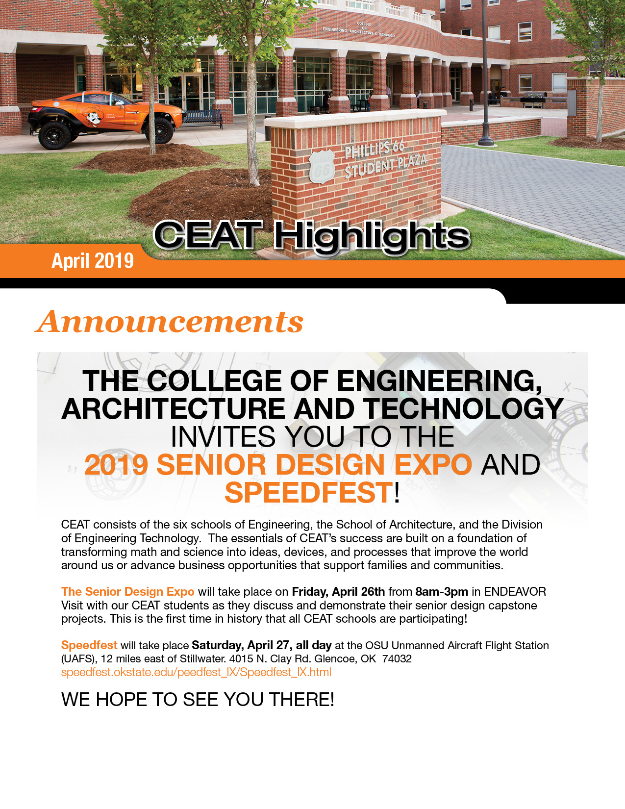 CEAT Newsletter | College of Engineering, Architecture and
